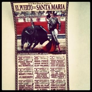 Cartel oficial de la temporada taurina 2013 en El Puerto